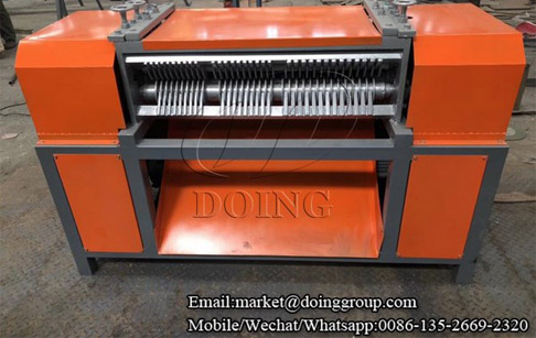 Two sets stripping type radiator separator with radiator cutting machine delivered to Shandong, China