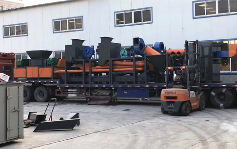 2-3t/h Large scale radiator recycling machine was delivered to India